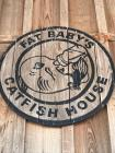 Fat Baby's Catfish Wood Sign