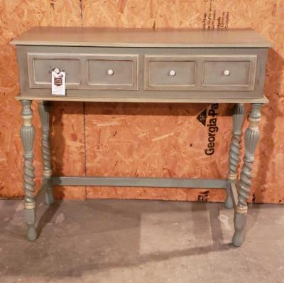 French Blue Accent Table