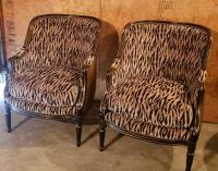 Pair of Animal Print Chairs
