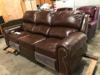Omnia Top Grain Brown Power Leather Sofa, works great!