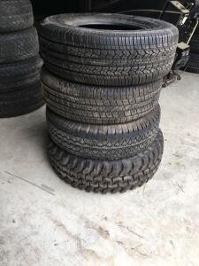4 Unused Goodyear and Mud King Tires
