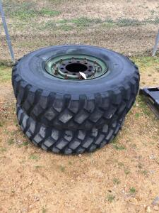 2 Unisteel Army Truck Tires