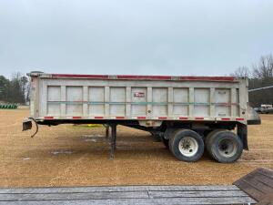 1996 Travis Aluminum Dump Trailer - title