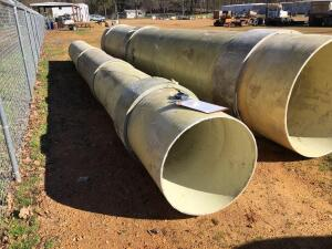 Fiberglass Pipe 2Ft 7In x 31 Ft 9In