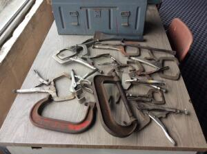 Vise Grip Pliers and C Clamps