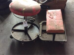 2 Rolling Work Stools