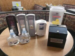 1 Lemonade Dispenser, 1 Suggestion Box,