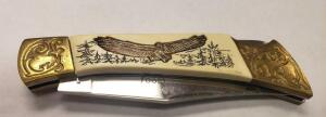 Linerlock With Eagle Inlay Knife