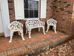 Wrought Iron Set - Settee and 2 chairs
