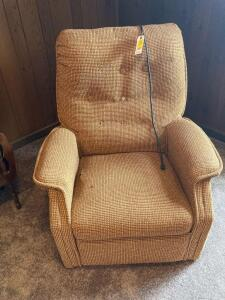Electric Upholstered Chair with Damage