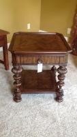 End table, Thomasville Basque, Finish Acacia