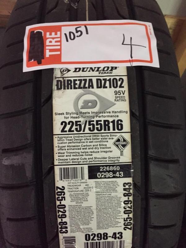 Dunlop Direzza Dz102 Review >> Dunlop Direzza Dz102 225 55r16