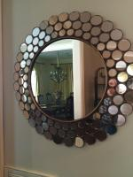 "Circular Mirror, 31"" Round, See Photo for Damage"