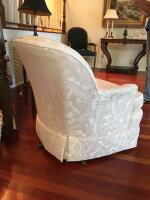 "Pair of Upholstered Arm Chairs, Tufted Back & Arms, Soiled & Stained on Arms, 31""H x 28"" W x 32"" D - 4"