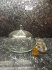 Covered Cake Server, 4 Glass & Silver plate Coasters, Amber Thumbprint Toothpick Holder