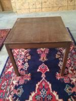 Mid Century Side Table, 22in x 22in Square, 20in H