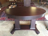 Parlor Table, Empire, Mahogany, Oval, 45in x 28in Top, 30in H