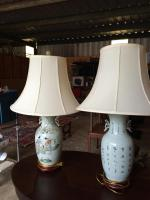 Lamps, Pair, Oriental, Made in China, 32in H,
