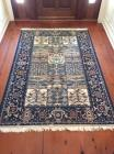 Rug, Blue and Camel, 5 ft. x 7 ft.