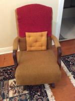 Rocking Chair, Upholstered, , 35 in. Back Height, 21 in. D