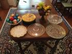 Group, Egg Plate, Glass Trays, etc... see photo