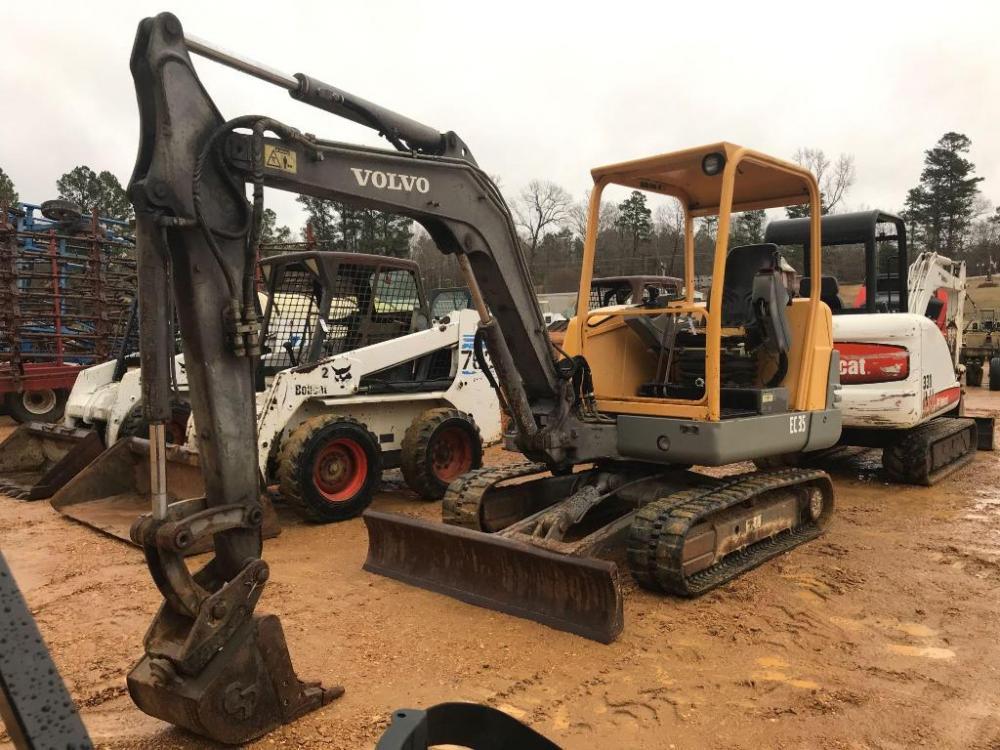 volvo ec35 mini excavator rh bid taylorauction com