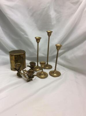 Brass Candle Holders 4,